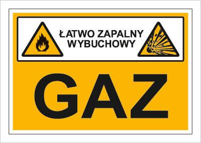 Znak Gaz (łatwo zapalny, wybuchowy) (870-02)