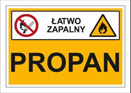 Obrazek dla kategorii Znak Propan (łatwo zapalny) (870-03)