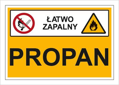 Znak Propan (łatwo zapalny) (870-03)