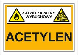 Obrazek dla kategorii Znak Acetylen (łatwo zapalny, wybuchowy) (870-05)