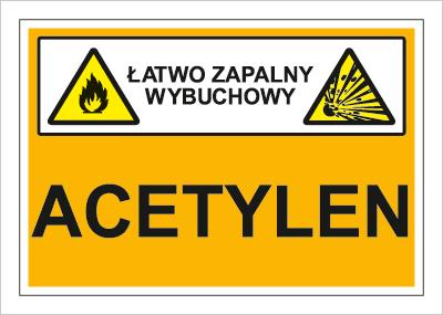 Znak Acetylen (łatwo zapalny, wybuchowy) (870-05)
