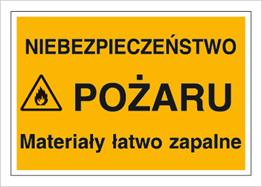 Obrazek dla kategorii Znak Niebezpieczeństwo pożaru. Materiały łatwo zapalne (836)
