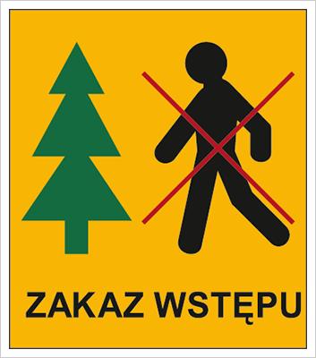 Znak Zakaz wstępu do lasu (857-05)