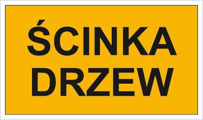 Znak Ścinka drzew (857-42)
