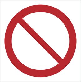 Obrazek dla kategorii Znak Ogólny zakazu - znak bez opisu (601)