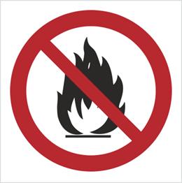 Obrazek dla kategorii Znak zakaz rozpalania grilla i ognisk - bez opisu (601-01)