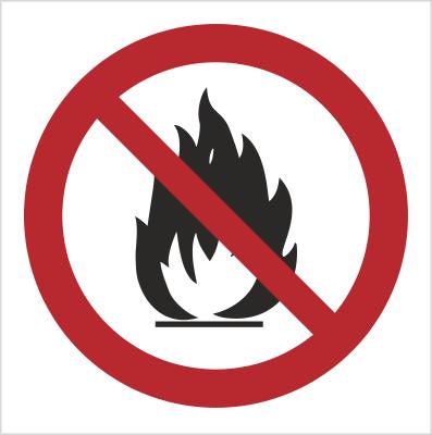 Znak zakaz rozpalania grilla i ognisk - bez opisu (601-01)