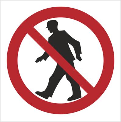 Znak Zakaz przejścia - bez opisu (602)