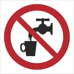 Obrazek dla kategorii Znak zakaz picia wody - bez opisu (603)