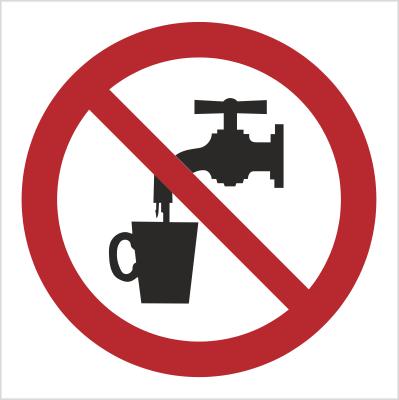 Znak zakaz picia wody - bez opisu (603)
