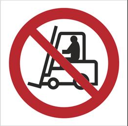 Obrazek dla kategorii Znak Zakaz ruchu urządzeń do transportu poziomego - bez opisu (604)