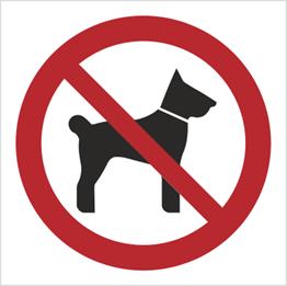 Obrazek dla kategorii Znak zakaz wstępu ze zwierzętami - bez opisu (605-01)