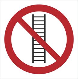 Obrazek dla kategorii Znak Zakaz używania drabiny (607)