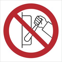 Obrazek dla kategorii Znak zakaz uruchamiania maszyny (urządzenia nie uruchamiać) (608)