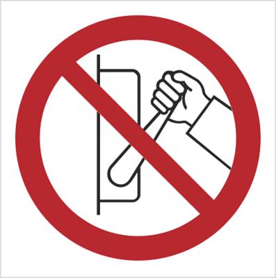 Znak zakaz uruchamiania maszyny (urządzenia nie uruchamiać) (608)