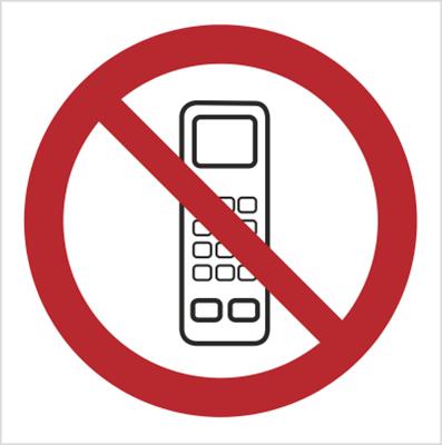 Znak Zakaz używania telefonów komórkowych (610-01)