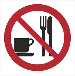Obrazek dla kategorii Znak Zakaz spożywania posiłków (611-01)