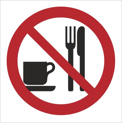 Znak Zakaz spożywania posiłków (611-01)