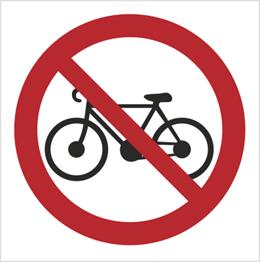 Obrazek dla kategorii Znak Zakaz wprowadzania rowerów (612-01)