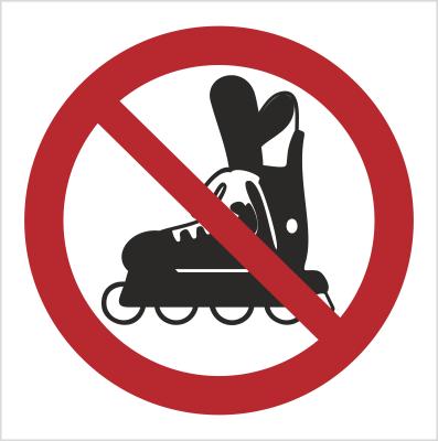 Znak Zakaz jazdy na rolkach (613-01)