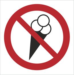 Obrazek dla kategorii Znak Zakaz wchodzenia z lodami (614-01)