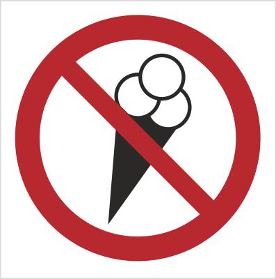 Znak Zakaz wchodzenia z lodami (614-01)