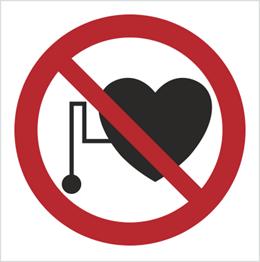 Obrazek dla kategorii Znak Zakaz przebywania osób z rozrusznikiem serca (616)