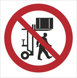 Obrazek dla kategorii Znak Zakaz przebywania pod ładunkiem (617)