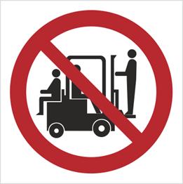 Obrazek dla kategorii Znak Zakaz przewozu osób na urządzeniach transoprtowych (619)