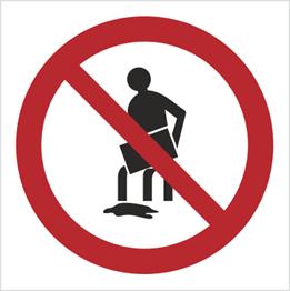Obrazek dla kategorii Znak Zakaz wylewania oleju, rozpuszczalników, substancji żrących itp.(621)