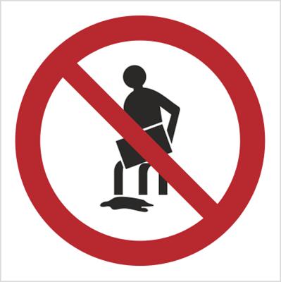 Znak Zakaz wylewania oleju, rozpuszczalników, substancji żrących itp.(621)