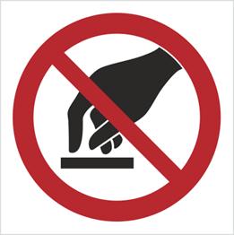 Obrazek dla kategorii Znak Nie dotykać (623)