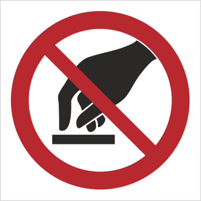 Znak Nie dotykać (623)