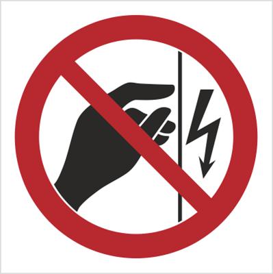 Znak Nie dotykać ! Urządzenie pod napięciem (624)