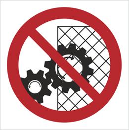 Obrazek dla kategorii Znak Zakaz zdejmowania osłon podczas pracy urządzenia (626)
