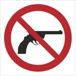 Obrazek dla kategorii Znak Zakaz wnoszenia broni (629)