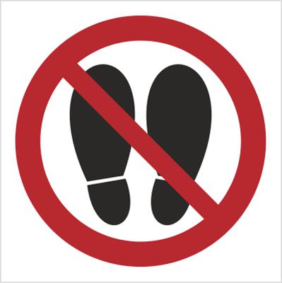 Znak Zakaz deptania (631)