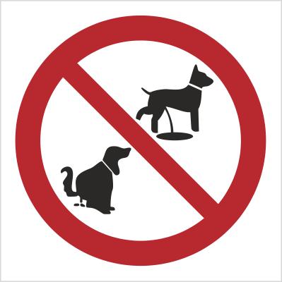 Znak Zakaz wyprowadzania psów (632)