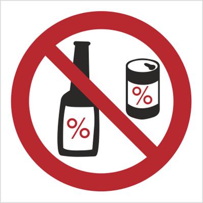 Znak Zakaz spożywania alkoholu (637)