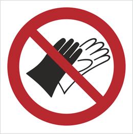 Obrazek dla kategorii Znak Zakaz używania rękawic (645)