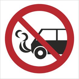 Obrazek dla kategorii Znak Nie zostawiać włączonych silników spalinowych (bez opisu) (646)