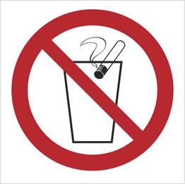 Obrazek dla kategorii Znak Zakaz wrzucania niedopałków do kosza (bez opisu) (648)