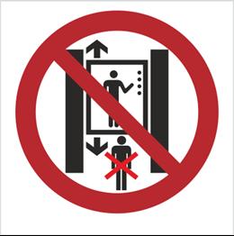 Obrazek dla kategorii Znak Zakaz przebywania pod windą (bez opisu) (652)