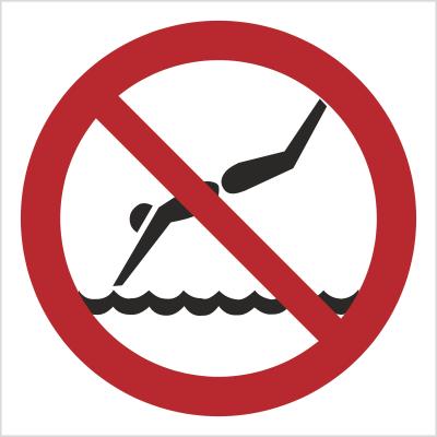 Znak Zakaz skoków do wody (bez opisu) (654)