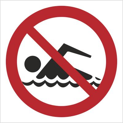 Znak Zakaz kąpieli (bez opisu) (655)