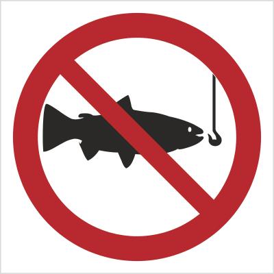 Znak Zakaz połowu ryb (bez opisu) (656)