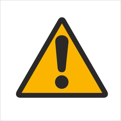 Znak Ogólny znak ostrzegawczy (ostrzeżenie , ryzyko niebezpieczeństwa) 301