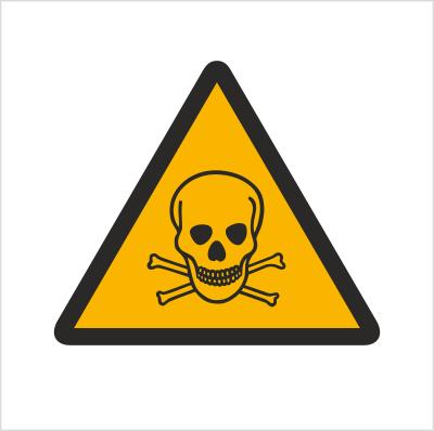 Znak Ostrzeżenie przed substancjami toksycznymi (302)