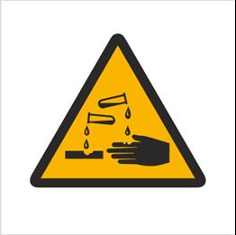 Obrazek dla kategorii Znak Ostrzeżenie przed substancjami żrącymi (303)