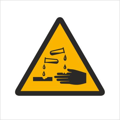 Znak Ostrzeżenie przed substancjami żrącymi (303)